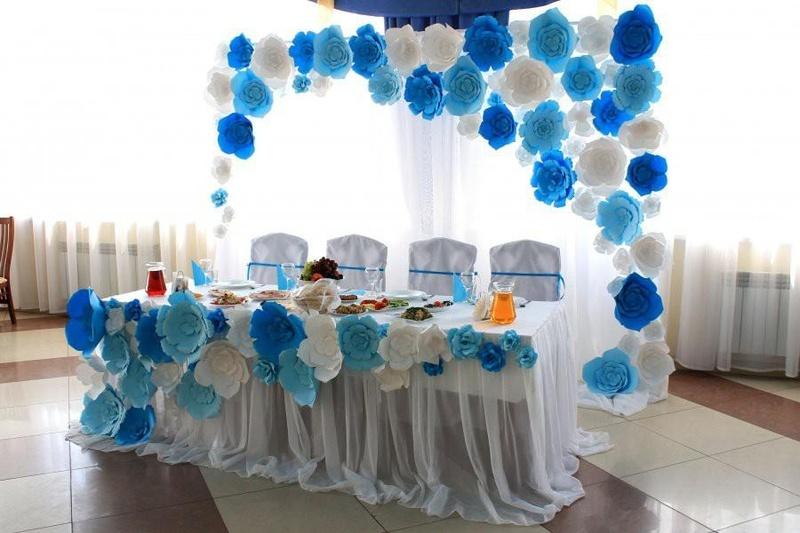 Оформление из бумаги своими руками на свадьбу